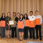Picture from left to right: Vince Duenas, AGA Guam Chapter President; Dr. Doreen Crisostomo, Advisor to the students; Dr. Helen Whippy, UOG Senior Vice-President for Academic and Student Affairs; Senator Vicente (ben) Cabrera Pangelinan; Senator Tina Rose Muna-Barnes; Ruren Clemente; Amber Castro; Edward Brobesong; Garry Yeoh; and Zeny Nace, AGA Guam Chapter Early Careers Committee Co-Chair.